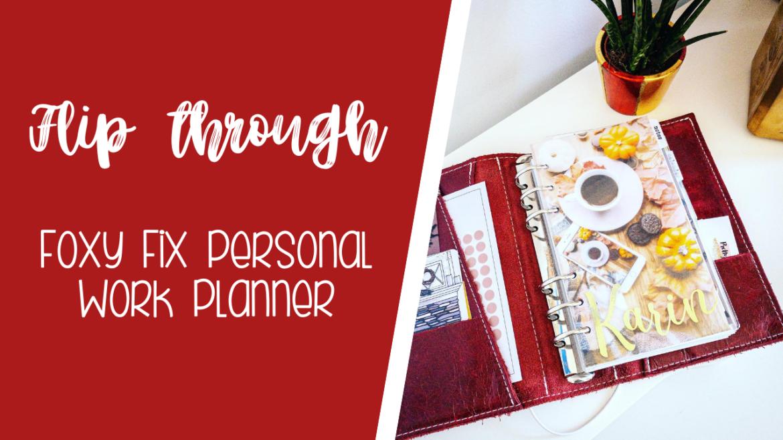 Work planner flip through