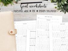 Goal Worksheets